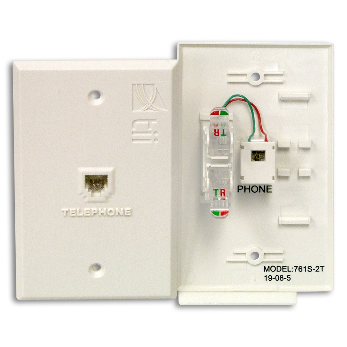 Tii Network Technologies Wire Terminals Telephone Jack Wiring 3 Pole 761 T Series Flush Mount Indoor Phone Plate